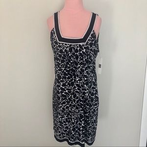 Laundry by Design Navy Blue Printed Dress NWT